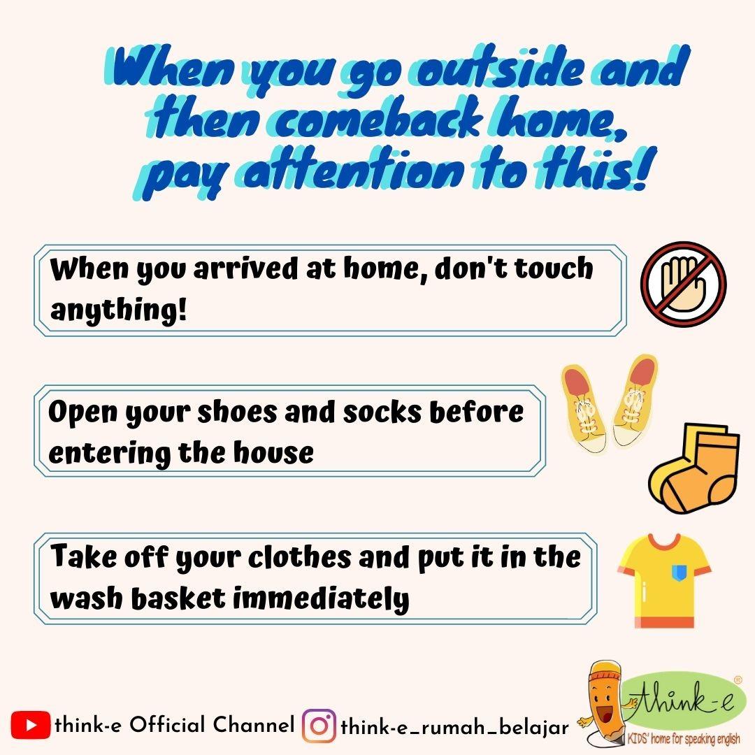 Tips setelah beraktivitas diluar rumah